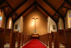 À l'intérieur de d'une église Images stock