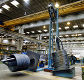 À l'intérieur de d'une usine en acier Image stock