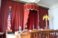 À l'intérieur de du vieux capitol d'état à Springfield Photographie stock libre de droits