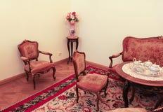 L'intérieur de la thé-pièce du palais de Gatchina Photos libres de droits