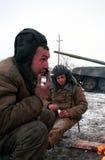 L'INVASION RUSSE DU CHECHENIE Images libres de droits