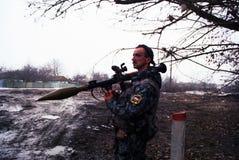 L'INVASION RUSSE DU CHECHENIE Photo libre de droits