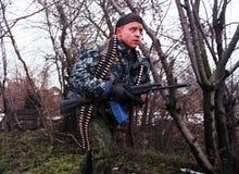 L'INVASION RUSSE DU CHECHENIE Photographie stock libre de droits