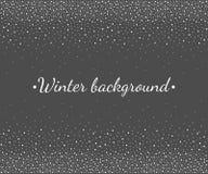 L'inverno, confine di caduta della neve di Natale, snowlakes punteggia la struttura Fotografie Stock