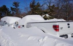 L'inverno della neve della bufera di neve di Jonas di snowzilla infuria il 23 gennaio 2016 Fotografie Stock Libere da Diritti