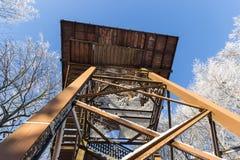 L'inverno della torre dell'allerta Fotografie Stock