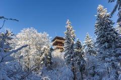 L'inverno della torre dell'allerta Immagini Stock