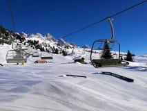 L'inverno freddo in alpi 2005, lo ama là fotografia stock
