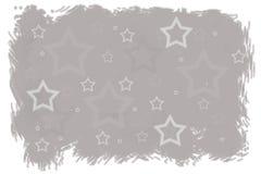 L'inverno grigio stars il fondo di Natale illustrazione vettoriale