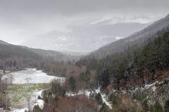 L'inverno nelle montagne Fotografia Stock