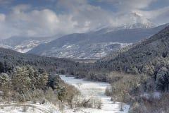 L'inverno nelle montagne Fotografie Stock