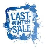 L'inverno scorso bollo di vendita. royalty illustrazione gratis