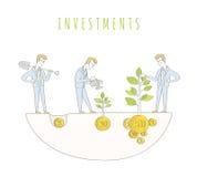 L'investimento fa un passo lineart Fotografia Stock Libera da Diritti