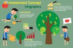 L'investissement est comme planter des arbres Concept d'investissement Image stock