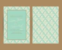 L'invitation de mariage et sauvent les cartes de date illustration stock
