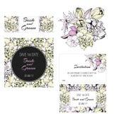 L'invitation, sauvent les cartes de date Fleurs Photographie stock libre de droits
