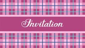 L'invitation, un modèle de plaid, pourpre, vecteur, anglais illustration stock