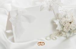 L'invito di cerimonia nuziale Fotografia Stock Libera da Diritti
