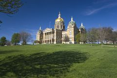 l'Iowa - capitol d'état Images libres de droits