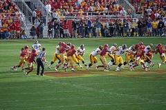 L'Iowa contre le football d'université d'état de l'Iowa Image libre de droits