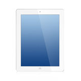 l'Ipad neuf (blanc d'Ipad 3) d'isolement Images stock
