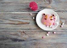 L'ippopotamo è fatto del gelato Fotografia Stock Libera da Diritti