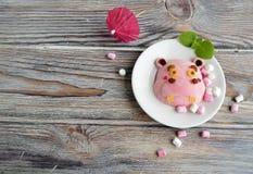 L'ippopotamo è fatto del gelato Fotografie Stock