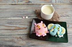 L'ippopotamo, elefante è fatto del gelato Immagine Stock Libera da Diritti