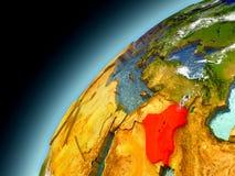 L'Irak dall'orbita di Earth di modello Fotografia Stock Libera da Diritti