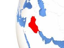 L'Irak sur le globe Images stock