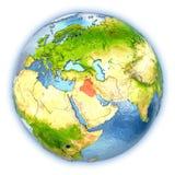 L'Irak sur le globe d'isolement illustration libre de droits