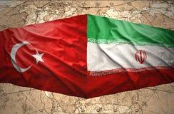 L'Iran et la Turquie Images stock