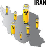 l'Iran nucléaire Image stock