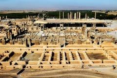 l'iran Persepolis est la capitale du royaume antique d'Achaemenid Ruines antiques perse Vue de ci-avant photos stock