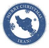 L'Iran, République islamique de carte illustration libre de droits