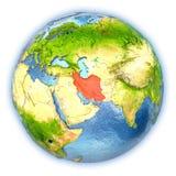 L'Iran sur le globe d'isolement illustration libre de droits