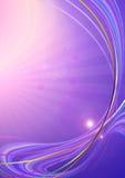 L'iridescentpourpre rayonnant de coveredde fonda courbé le lineset les fusées Photographie stock