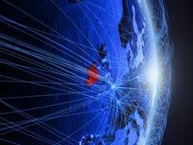 L'Irlanda su terra digitale blu blu immagine stock libera da diritti