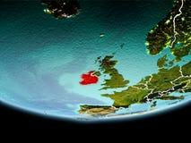 L'Irlande en rouge le soir Photo stock