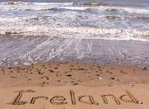 l'Irlande sur la plage image stock