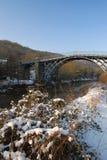 l'ironbridge décrit l'hiver Images stock