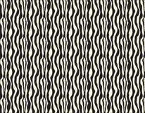 L'irregolare in bianco e nero senza cuciture di vettore arrotondato allinea il modello di semitono del fondo dell'estratto di tra Fotografie Stock