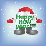 l'iscrizione con il nuovo anno in un cappuccio Fotografia Stock