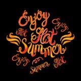 L'iscrizione di vettore dell'acquerello gode del PA caldo di stile della fiamma del estate-fuoco Fotografia Stock Libera da Diritti