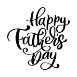 L'iscrizione disegnata a mano di padri di frase felice del giorno genera le citazioni Progettazione della stampa della maglietta  illustrazione vettoriale
