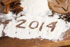 L'iscrizione sulla farina - 2014 Fotografia Stock Libera da Diritti