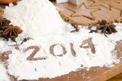 L'iscrizione sulla farina - 2014 Fotografie Stock Libere da Diritti