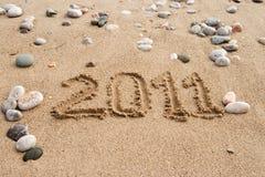 L'iscrizione sulla sabbia Fotografia Stock Libera da Diritti