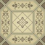 L'Islam, l'arabe, Indien, motifs de tabouret Éléments décoratifs de cru illustration de vecteur