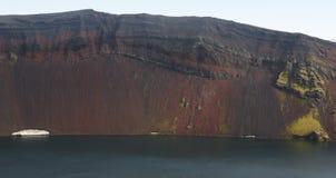 L'Islanda. Area del sud. Fjallabak. Cratere di Ljotipollur. Lan vulcanica Immagine Stock Libera da Diritti
